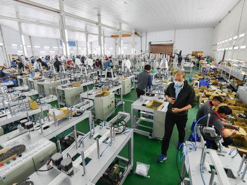 台湾のマスク生産工場