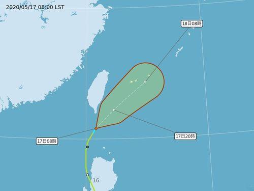 台風1号、熱帯低気圧に=中央気象局提供