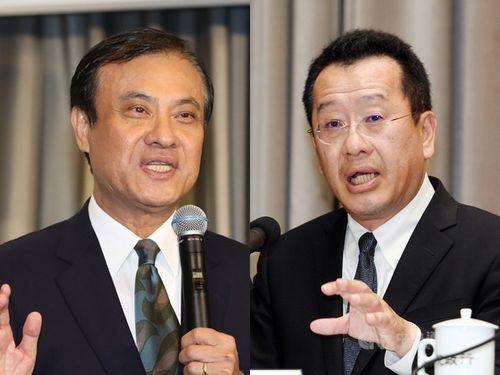 蘇嘉全氏(左)と顧立雄氏