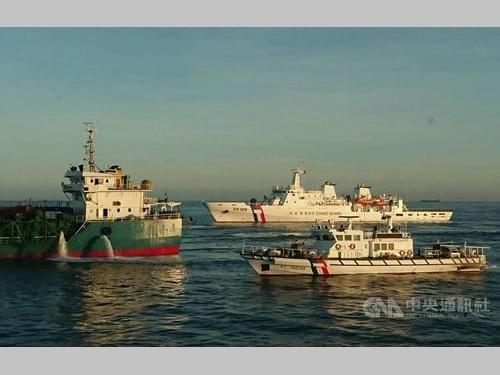海巡署、中国船差し押さえ  台湾海峡で海砂を違法採取