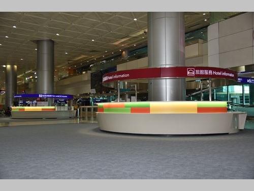 刷新された桃園空港の案内所 (写真=桃園空港提供)