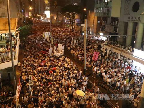 香港で昨年6月9日にあった反中デモ
