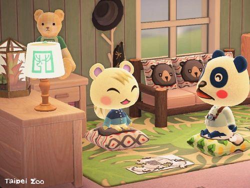 台北市立動物園も「あつ森」に参入 園の人気者のデザインを配布=同園提供