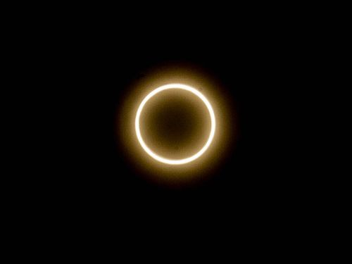 台湾で観測された金環日食=2020年6月21日