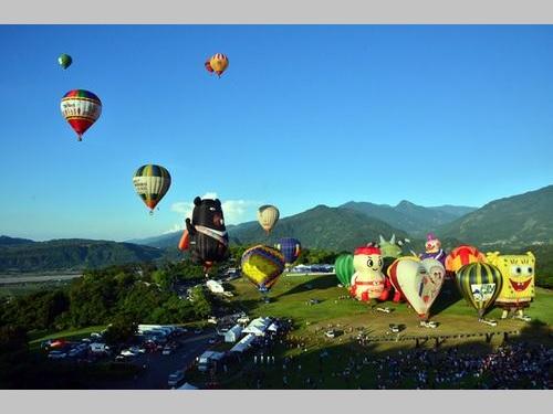 11日に開幕した「台湾国際バルーンフェスティバル」