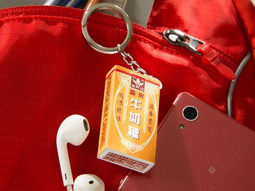 「森永ミルクキャラメル」の箱を再現した台湾の交通系ICカード「イージーカード」=同社提供