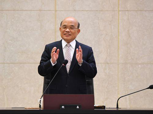 蘇貞昌(そていしょう)行政院長。閣議で=資料写真、同院提供