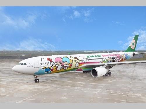 エバー航空のハローキティジェット=同社提供