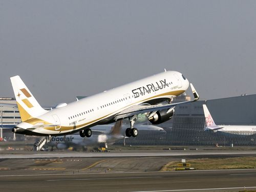 スターラックス航空の旅客機=桃園空港記者聯誼会提供