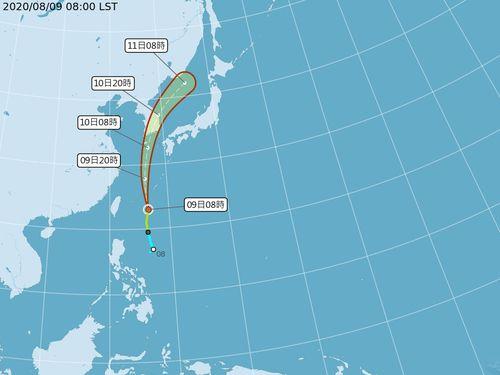 台風5号発生 10~12日、台湾は大気不安定に=中央気象局提供