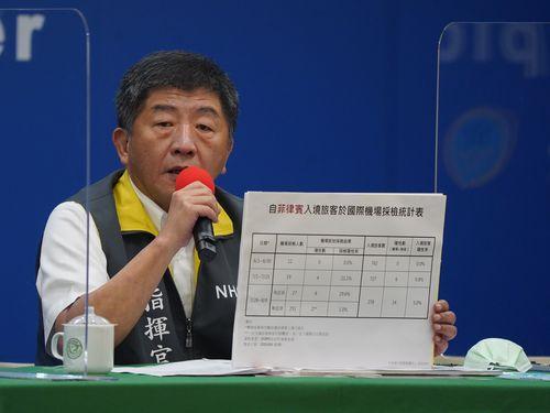 台湾の感染状況について説明する中央感染症指揮センターの陳時中指揮官
