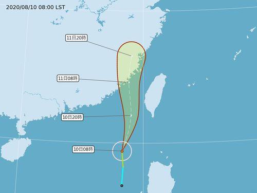 台風6号で海上・陸上警報 今晩、影響最も顕著に=中央気象局提供