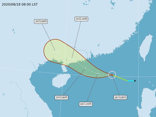台風進路予想図=中央気象局提供