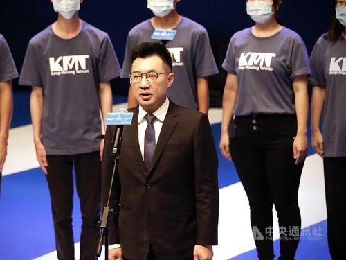 国民党の党首、江啓臣氏