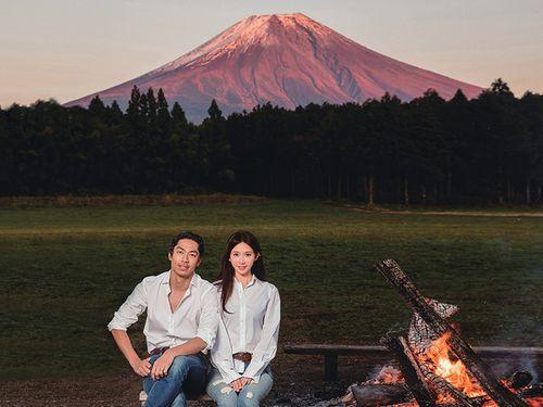 リン・チーリン、EXILE・AKIRA夫妻。台北市志玲姉姉慈善基金会提供