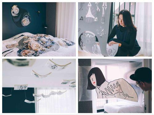 13の客室を展示スペースとして都市を表現する芸術イベント「13個房間 ❛ 看不見的城市」=孩在フェイスブックページより