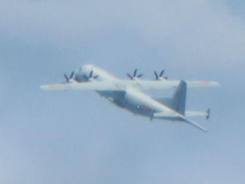 中国軍のY8対潜哨戒機=国防部提供