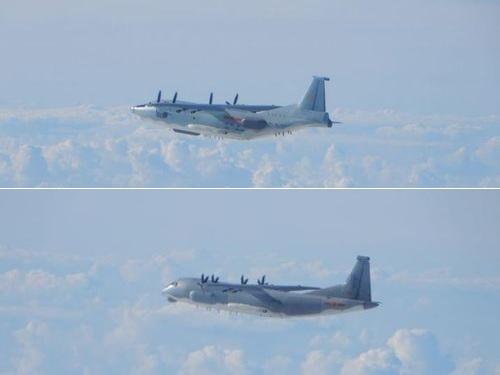 中国軍のY8(上)、Y9型機=国防部提供