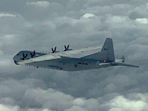 中国のY8対潜哨戒機=国防部提供