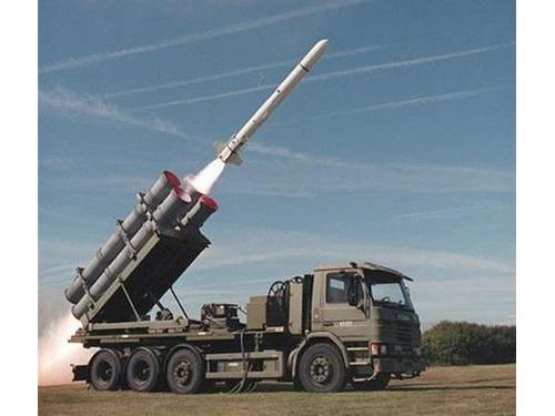 地上発射型のハープーン対艦ミサイル=ボーイング防衛・宇宙・セキュリティーのツイッターから