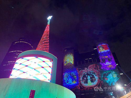 新北のクリスマスイベント試験点灯 ディズニーと初コラボ
