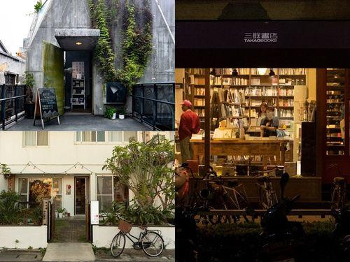11日休業した独立系書店の青鳥書店(左上)、紅気球書屋(左下)、三餘書店(右)=各書店のフェイスブックから