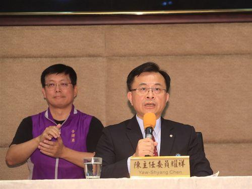 再免許を認めない理由について説明するNCCの陳主任委員