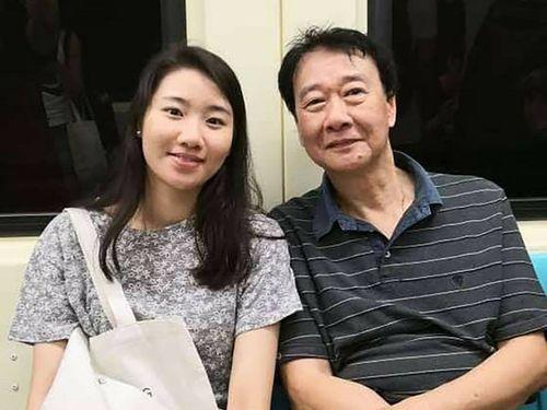 曽慶暉さん(右)と愛娘の以琳さん=曽慶暉さん提供