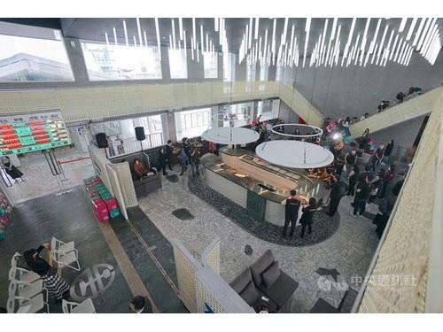 29日に先行公開された台鉄花蓮駅のVIPラウンジ