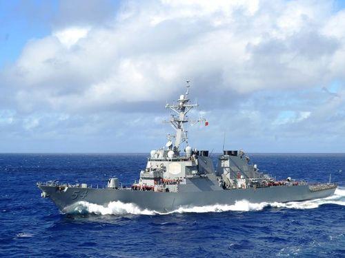 米ミサイル駆逐艦「カーティス・ウィルバー」=同艦のフェイスブックから