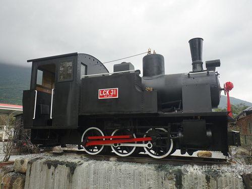 修復されたLCK31型蒸気機関車