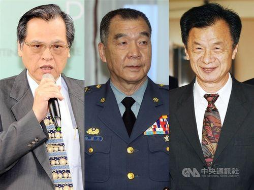 左から陳明通氏、邱国正氏、邱太三氏=総統府のフェイスブックから