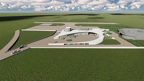 リニューアル後の七美空港のイメージ=民航局提供