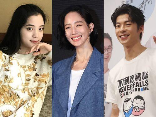 「新疆綿」支持を表明した(左から)ナナ(欧陽娜娜)、チャン・チュンニン(張鈞甯)、グレッグ・ハン(許光漢)