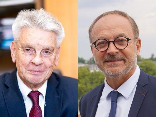 仏上院議員のリシャール氏(左)とゲリオ氏=ウィキメディアコモンズから。左は作者Jacques Paquier、CC BY 2.0、右は作者Paul Brounais、CC BY 4.0