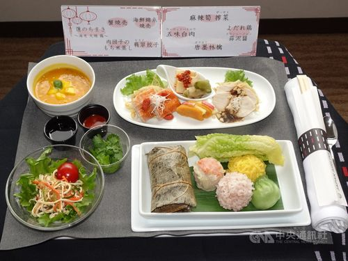 機内食として提供される台湾料理