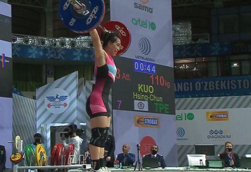 重量挙げ女子の郭婞淳選手=アジア選手権大会のウェブサイトから