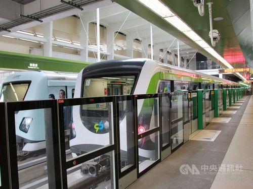 25日正式開業した台中メトロ緑線