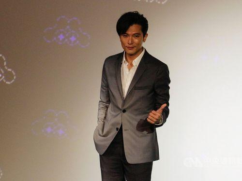 台北映画祭のイメージCM発表会に臨むロイ・チウ