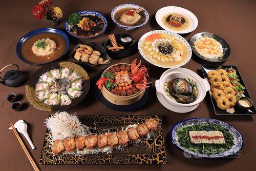 皇太子裕仁親王が台湾行啓の際に食べた宴会料理を再現した「摂政宮皇太子御宴」=シルクスプレイス台南提供