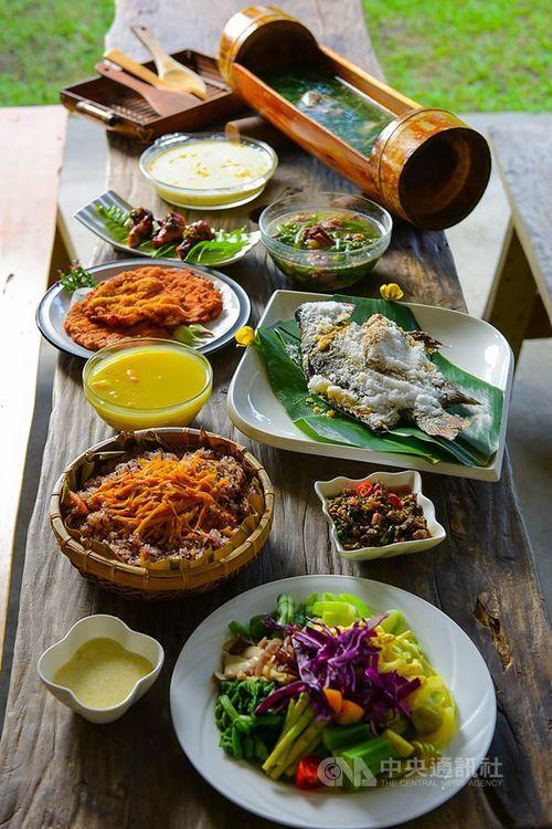 先住民料理を含む花蓮のグルメ=花蓮県政府提供