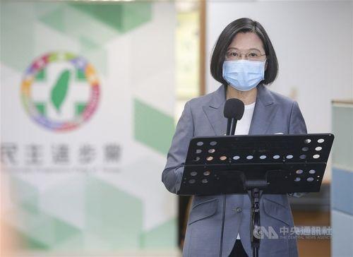 民進党主席を兼ねる蔡総統