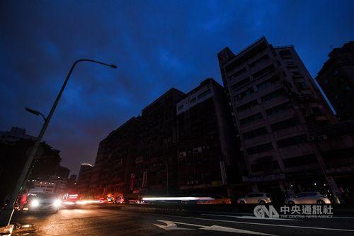 13日午後に停電した台北市万華区南寧路一帯