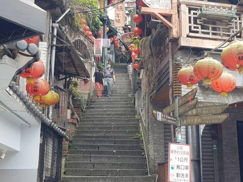 台湾、警戒レベル3になって初の週末 各地で人出が激減 九份もがらがら=新北市政府観光旅遊局提供