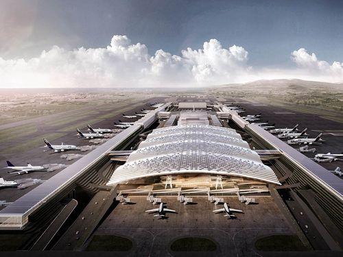 桃園国際空港第3ターミナルビルのイメージ図=同空港提供