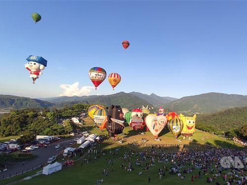 昨年の台湾国際バルーンフェスティバル=2020年7月11日、台東県