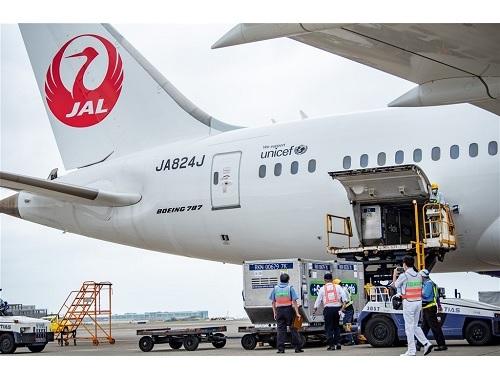 4日に台湾に到着した日本からのワクチン=桃園市政府新聞処提供