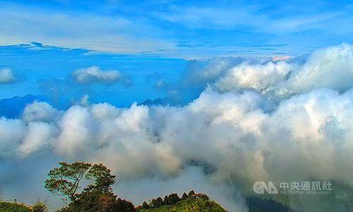 雲に覆われる阿里山=阿里山国家風景区管理処提供