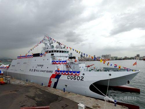 台湾が自主建造した600トン級巡視船「成功」=海巡署提供