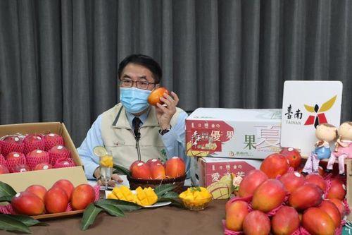 台南市の黄市長=同市政府提供